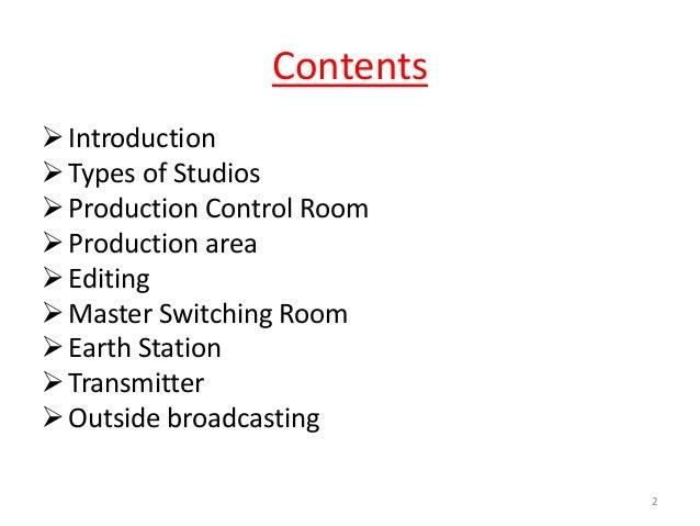 television broadcasting Slide 2