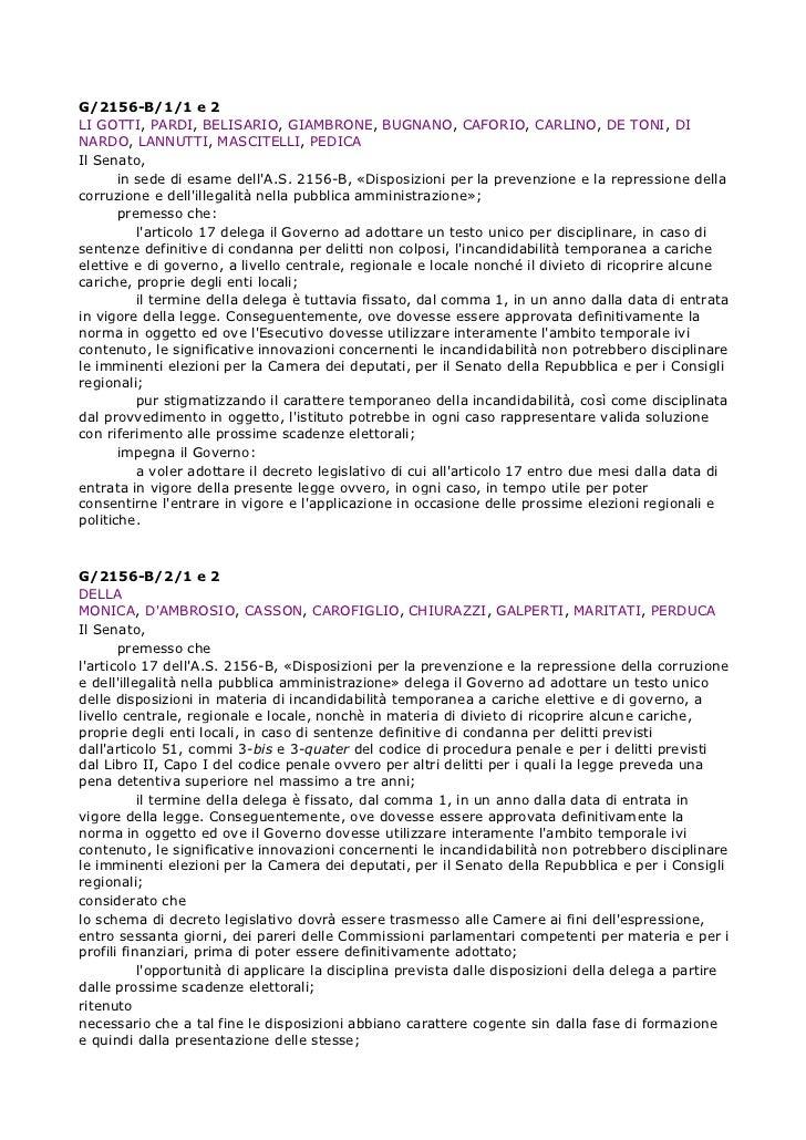 G/2156-B/1/1 e 2LI GOTTI, PARDI, BELISARIO, GIAMBRONE, BUGNANO, CAFORIO, CARLINO, DE TONI, DINARDO, LANNUTTI, MASCITELLI, ...