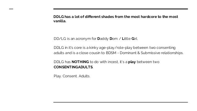 DDLG Relationships: What is the meaning of DDLG? Slide 2