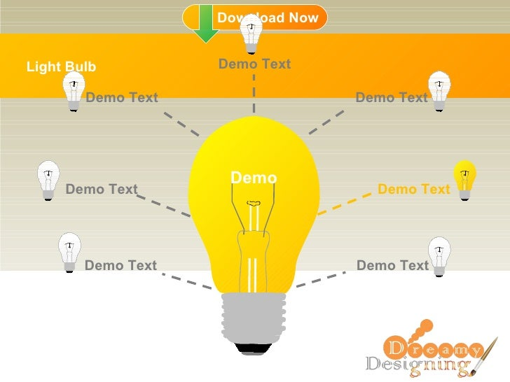 Light Bulb Demo Demo Text Demo Text Demo Text Demo Text Demo Text Demo Text Demo Text