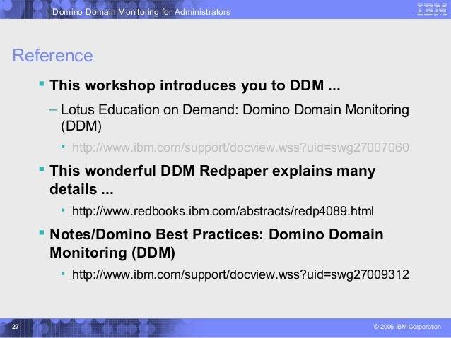 Ibm Lotus Domino Domain Monitoring Ddm