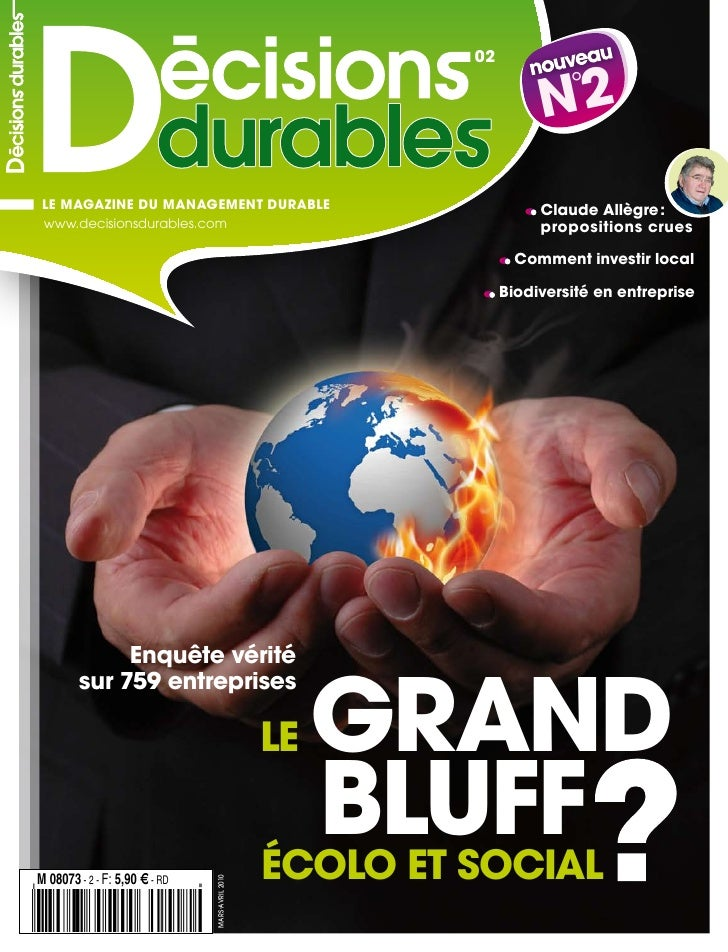 02                                                                       N2  °      LE MAGAZINE DU MANAGEMENT DURABLE     ...