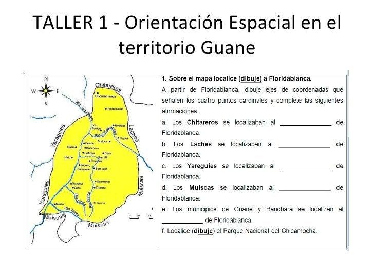 TALLER 1 - Orientación Espacial en el territorio Guane