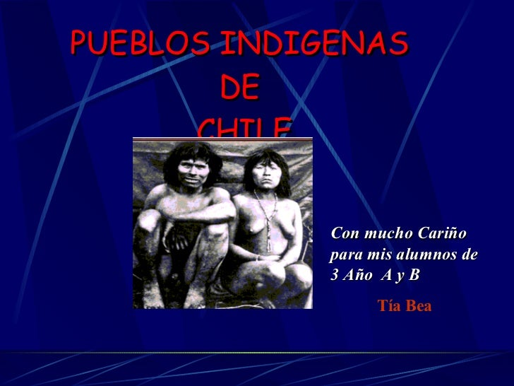PUEBLOS INDIGENAS  DE  CHILE Tía Bea Con mucho Cariño para mis alumnos de 3 Año  A y B