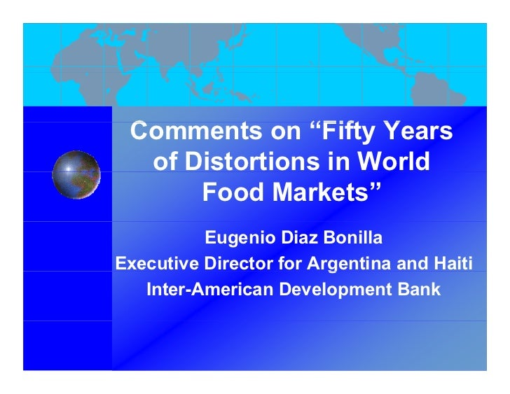 "Comments on ""Fift Years  C        t     ""Fifty Y    of Distortions in World        Food Markets""           Eugenio Diaz Bo..."