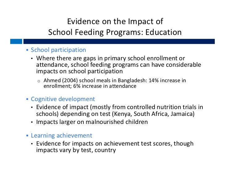feeding program report Parents reported knowledge about the school feeding program and council  the qualitative analysis consisted of content analysis and.