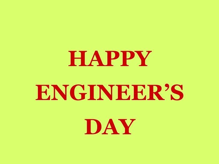 HAPPY ENGINEER'S DAY
