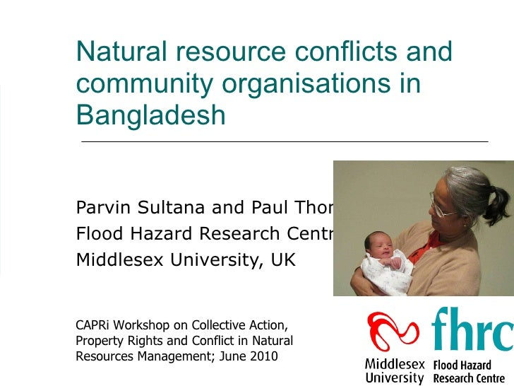 Natural resource conflicts and community organisations in Bangladesh