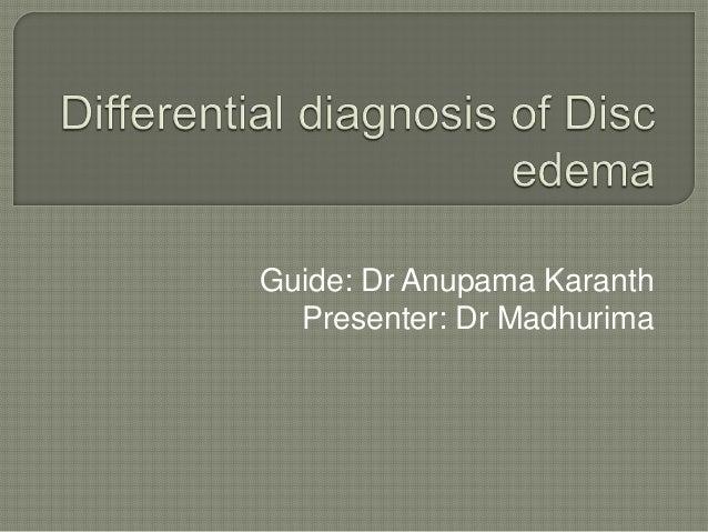 Guide: Dr Anupama Karanth Presenter: Dr Madhurima