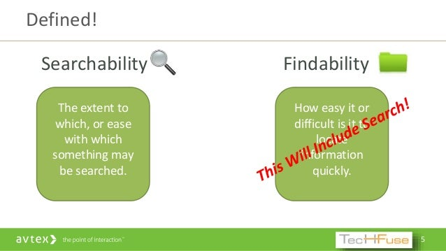 Findability vs search explained
