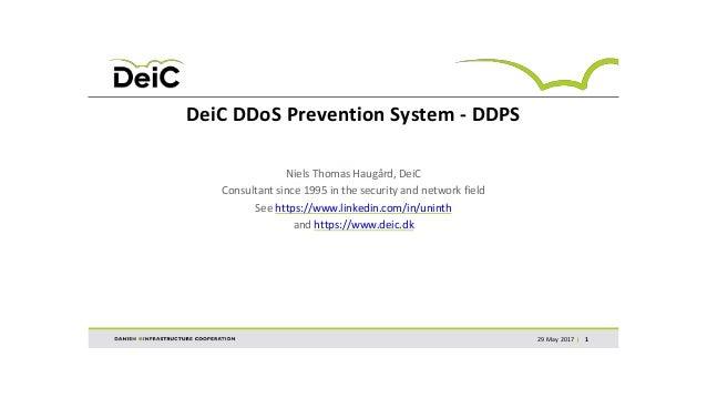 DeiC DDoS Prevention System - DDPS