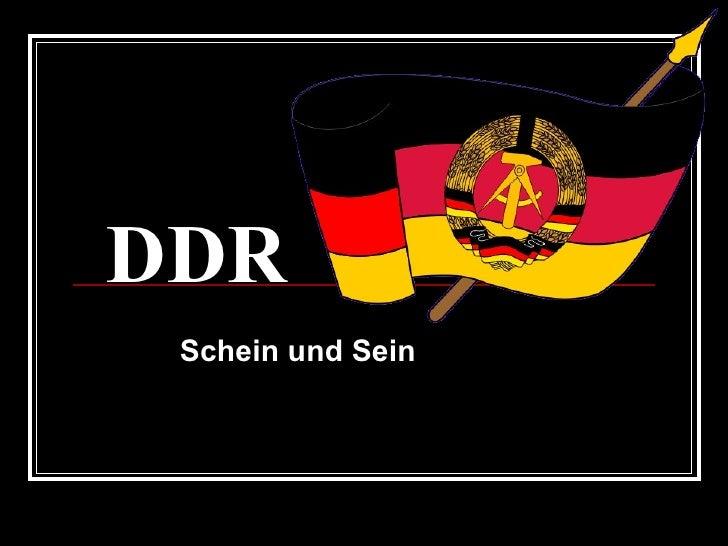 DDR Schein und Sein