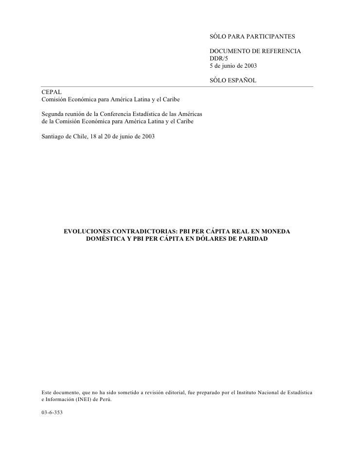 SÓLO PARA PARTICIPANTES                                                                         DOCUMENTO DE REFERENCIA   ...