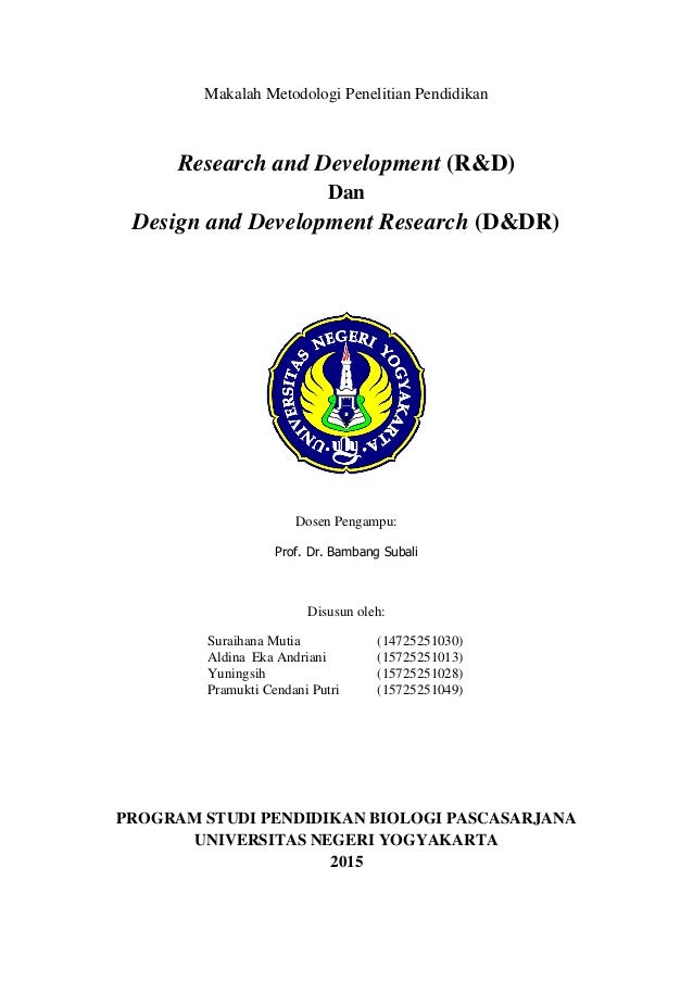 Makalah Ddr Design And Development Research And R D Research And D