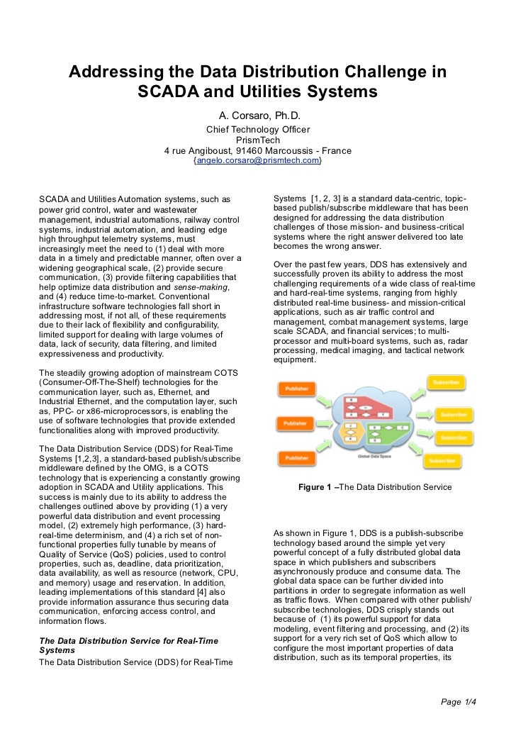 Addressing the Data Distribution Challenge in               SCADA and Utilities Systems                                   ...