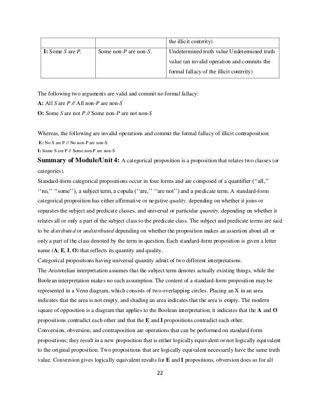 Intro Logic Ch 4 Categorical Propositions