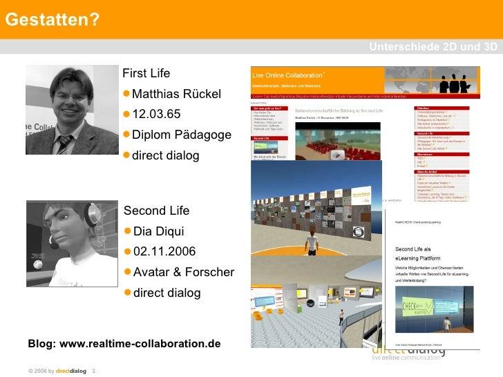 Unterschiede zwischen 2D und 3D E-Learning Slide 2