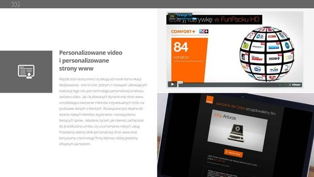 Personalizowane video i personalizowane strony www Współcześni konsumenci oczekują od marek komunikacji dedykowanej - one-...