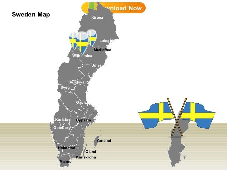 DD Sweden Map - Sweden map sundsvall