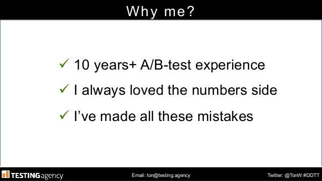 Keynote Digital Data Tips Tuesday - Amsterdam - June 24th 2014 - A/B-testing analytics errors Slide 2
