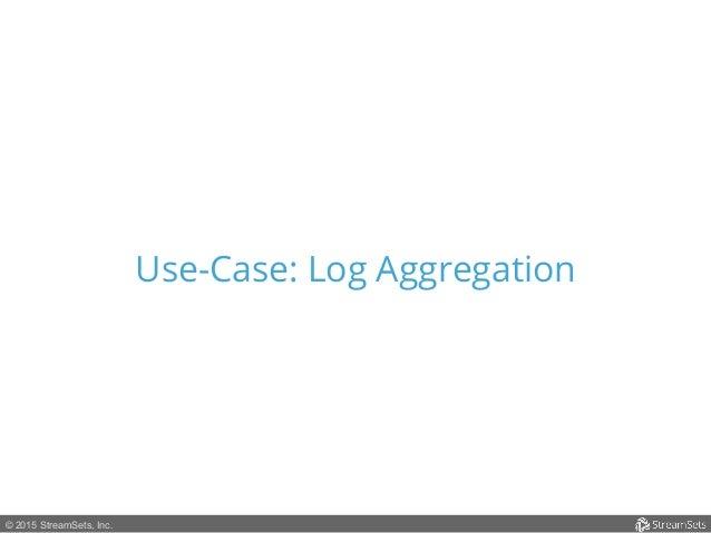 © 2015 StreamSets, Inc. Use-Case: Log Aggregation