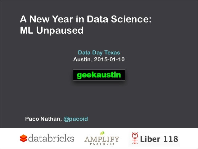 A New Year in Data Science: 