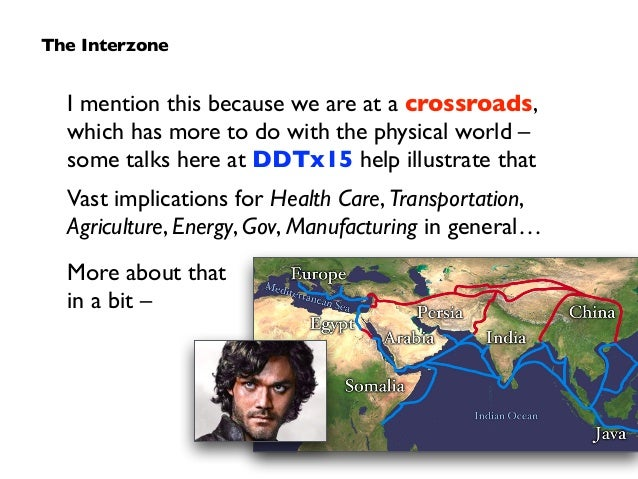 I mention this because we are at a crossroads,  which has more to do with the physical world –  some talks here at DDTx1...