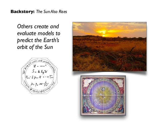 Backstory: The Sun Also Rises Others create and evaluate models to predict the Earth's orbit of the Sun