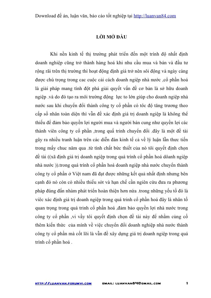Download đề án, luận văn, báo cáo tốt nghiệp tại http://luanvan84.com                              LỜI MỞ ĐẦU       Khi nề...