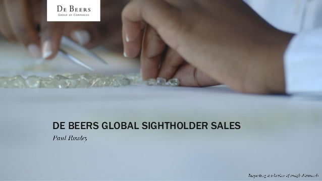 DE BEERS GLOBAL SIGHTHOLDER SALES