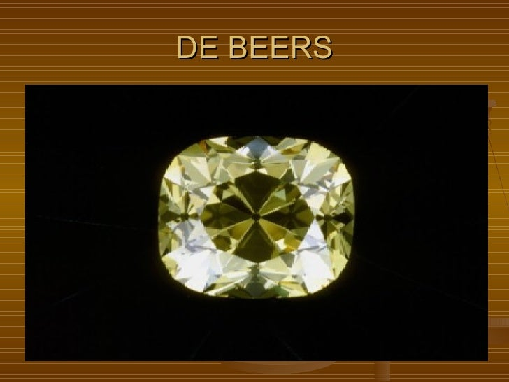 de beers porter five forces The macro and micro environment analysis porter's five forces make an effort to more proportion of the market is under influence of companies as de beers.