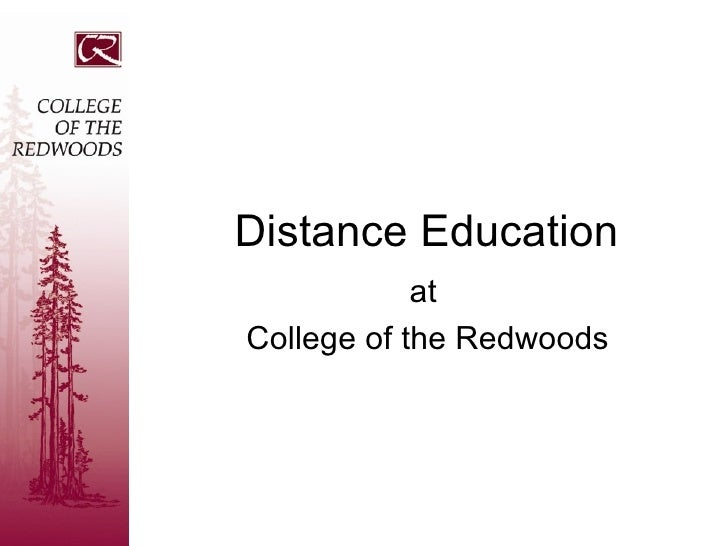 Distance Education at  College of the Redwoods