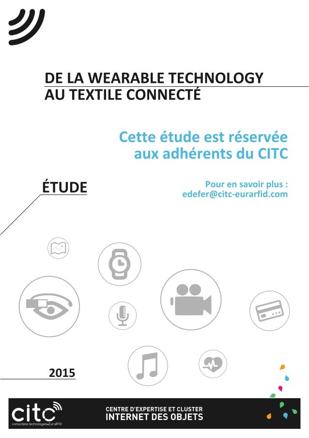 Etude 2015 - De la wearable technology au textile connecté