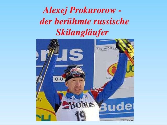Alexej Prokurorow der berühmte russische Skilangläufer