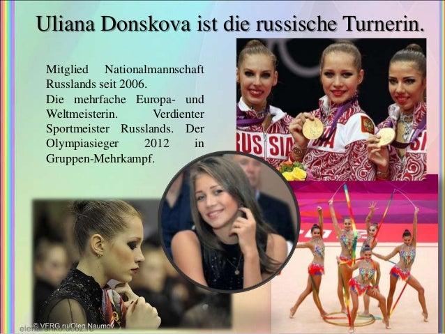 Uliana Donskova ist die russische Turnerin. Mitglied Nationalmannschaft Russlands seit 2006. Die mehrfache Europa- und Wel...