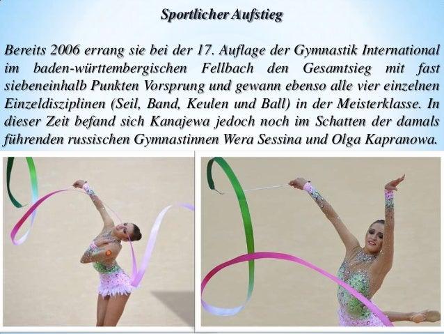 Sportlicher Aufstieg Bereits 2006 errang sie bei der 17. Auflage der Gymnastik International im baden-württembergischen Fe...
