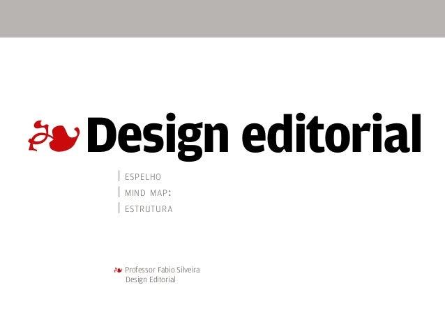 4 | espelho | mind map: | estrutura 4 Professor Fabio Silveira  Design Editorial Design editorial