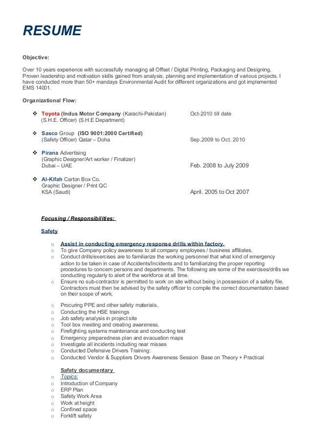 profile resume