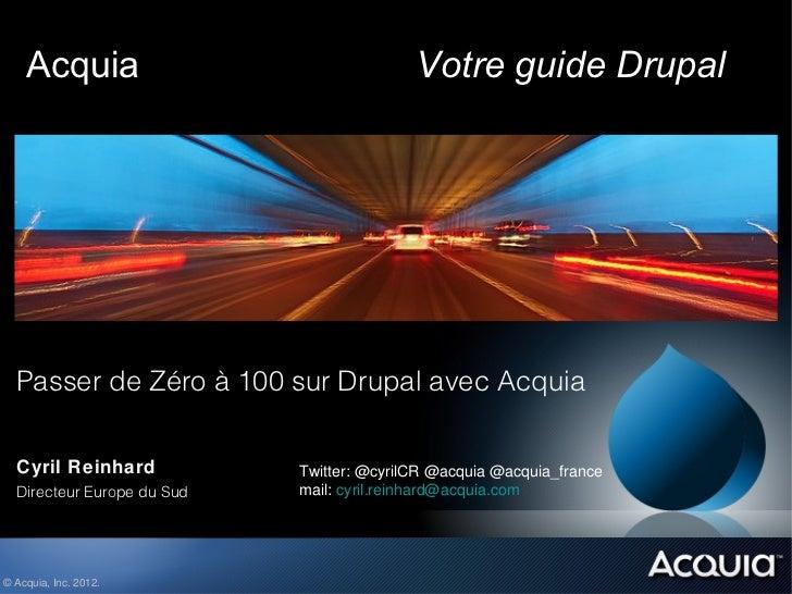 Acquia                                 Votre guide Drupal  Passer de Zéro à 100 sur Drupal avec Acquia  Cyril Reinhard    ...
