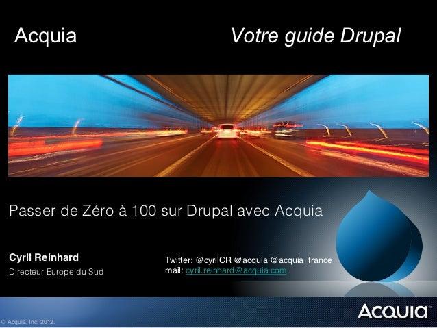 Acquia                                 Votre guide Drupal  !  !  !  !  Passer de Zéro à 100 sur Drupal avec Acquia  !  !  ...