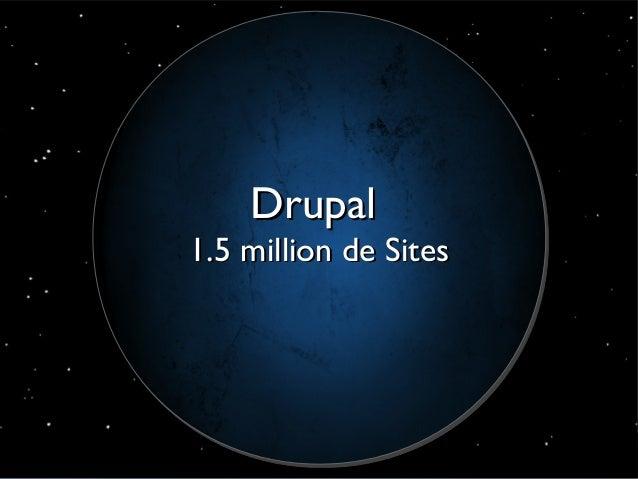 Drupal                       1.5 million de Sites© Acquia, Inc. 2012.