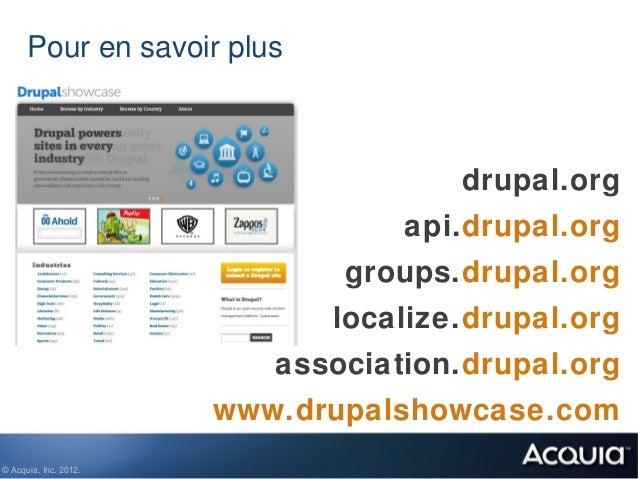 Pour en savoir plus                                     drupal.org                                  api.drupal.org        ...