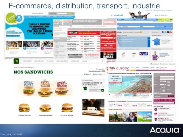 E-commerce, distribution, transport, industrie© Acquia, Inc. 2012.