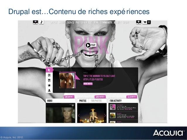 Drupal est…Contenu de riches expé riences© Acquia, Inc. 2012.