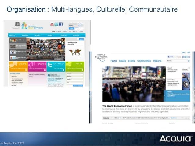 Organisation : Multi-langues, Culturelle, Communautaire© Acquia, Inc. 2012.