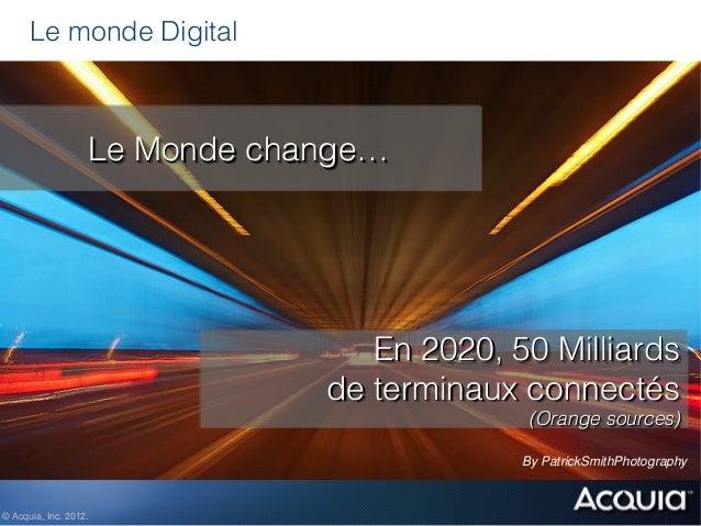 Le monde Digital                   Le Monde change…                                  En 2020, 50 Milliards                ...