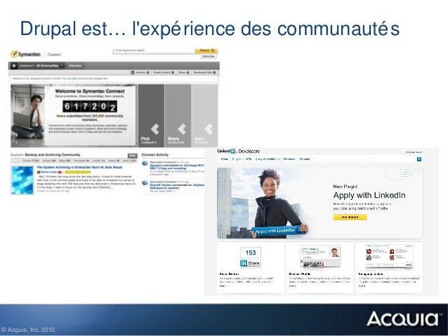 Drupal est… lexpé rience des communauté s© Acquia, Inc. 2012.