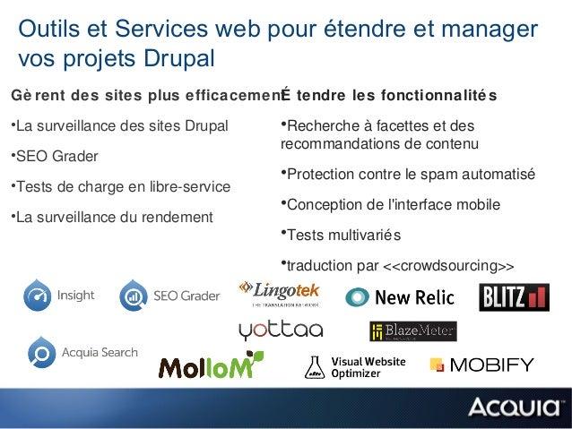 Outils et Services web pour étendre et manager vos projets DrupalGè rent des sites plus efficacement tendre les fonctionna...