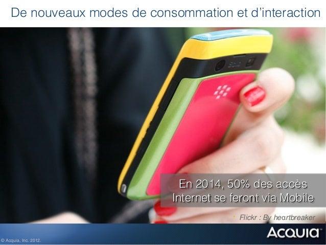 De nouveaux modes de consommation et d'interaction                               En 2014, 50% des accès                   ...