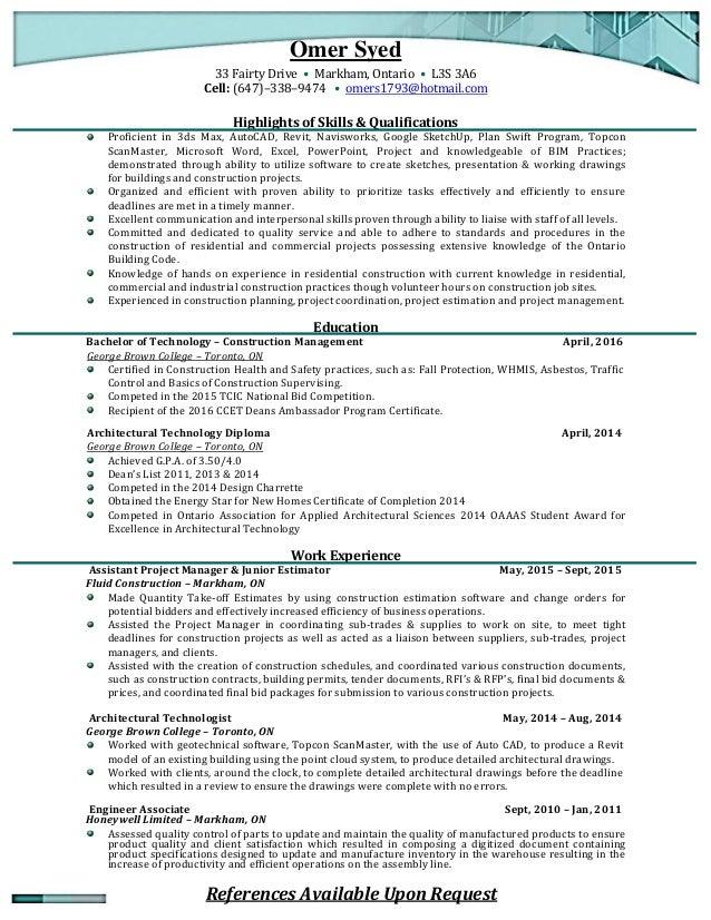 Omer Syed - Resume